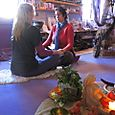 kerry and tori in the goddess temple